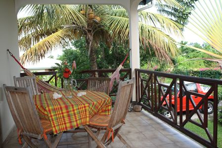 Apartment terace in Deshaies Guadeloupe