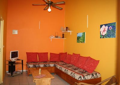 living room near the beach Deshaies Guadeloupe