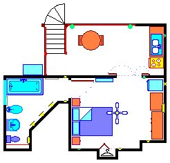 Large Studio flor plan